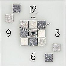 AMS Uhrenfabrik Clock, Silver, 30 x 5 x 384 cm