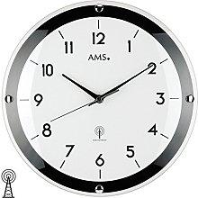 AMS Uhrenfabrik Clock, Silver, 31 x 4 x 233 cm