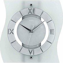 AMS Uhrenfabrik Clock, Silver, 32 x 6 x 234 cm