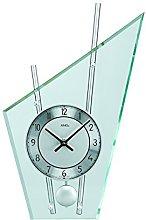 AMS Uhrenfabrik Clock, Silver, 36 x 23 x 8 cm