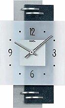 AMS Uhrenfabrik Clock, Silver, 36 x 5 x 380 cm