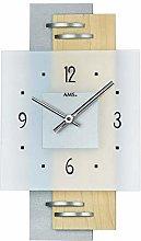 AMS Uhrenfabrik Clock, Silver, 36 x 5 x 381 cm
