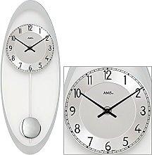 AMS Uhrenfabrik Clock, Silver, 50 x 3 x 350 cm