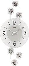 AMS Uhrenfabrik Clock, Silver, 52 x 5 x 453 cm