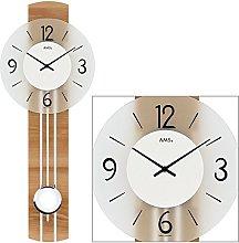 AMS Uhrenfabrik Clock, Silver, 60 x 7 x 301 cm