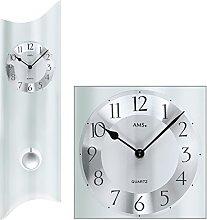AMS Uhrenfabrik Clock, Silver, 68 x 5 x 326 cm