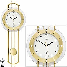 AMS Uhrenfabrik Clock, Silver, 68 x 7 x 177 cm