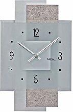 AMS Uhrenfabrik Clock, White/Silver, 36 x 5 x 454