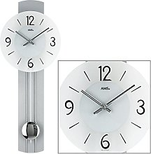 AMS Uhrenfabrik W7275 Clock, Glass, Silver