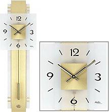 AMS Uhrenfabrik W7301 Clock, Glass, Silver