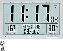 AMS Wall Clock, Silver, 25x21 cm