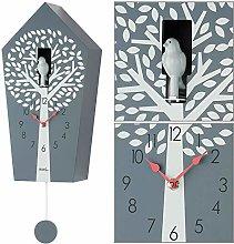 AMS wall clock, wood, gray, 20 x 39 x 11 cm