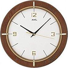 AMS Wall Clock, Wood, White, 29 x 29 x 5 cm