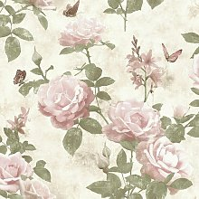 Amsterdam Floral Vintage Rose Chic Effect