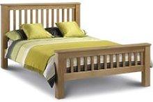 Amsterdam High Foot End Solid Oak Wooden Bed Frame