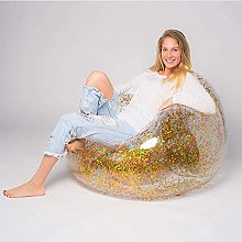 AMTSKR Outdoor Confetti Glitter Inflatable Lounger