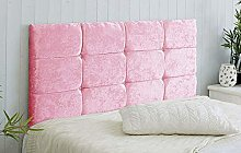 AMU 12 Bed Headboard in Crushed Velvet WITH