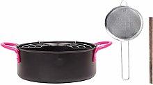 Amusingtao Deep Fry Pan 20cm Multifunctional Non