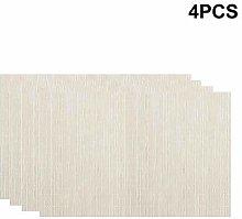 Amusingtao Home Placemats-4pcs PVC Table Placemats