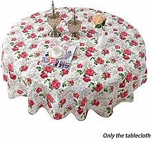 Amusingtao Table Cloth Simple Floral Print PVC