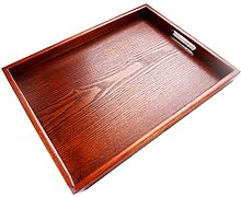 Amuzocity Wooden Serving Tray Rectangular Tray