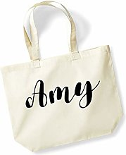Amy Personalised Shopping Tote in Natural Colour