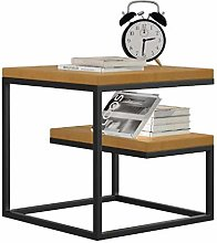 AMYAL Coffee Table Solid Wood Side Table Iron
