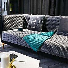 AMYDREAMSTORE Velvet Plush Couch Sofa Cover,l