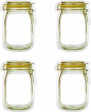 Amyline 4 Pieces Mason Jar Zipper Bags Reusable