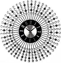 AMYZ Modern Crystal Diamond Wall Clocks,Luxury 3D