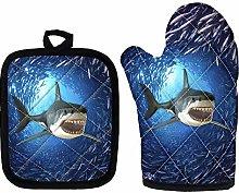 Amzbeauty Funny Shark Oven Mitts - Heat Resistant