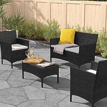 Ana Maria 4 Seater Rattan Sofa Set Zipcode Design