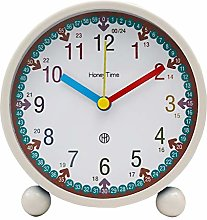 Analog Alarm Clock 4 Inch Super Silent Non Ticking