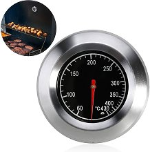 Analog barbecue thermometer for all barbecues and