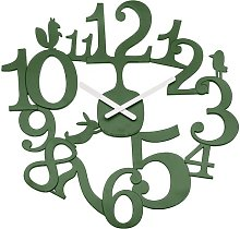 Analogue Wall Clock Koziol Colour: Forest green