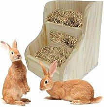 ANANAN Rabbit hay feeder, hay rack, natural wood