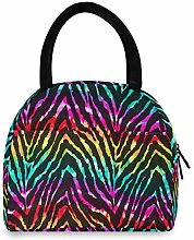 Anantyy Colorful Animal Zebra Print Lunch Bag