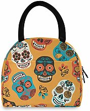 Anantyy Floral Flower Sugar Skull Lunch Bag