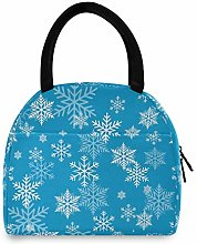 Anantyy Snowflake Pattern Lunch Bag Insulated