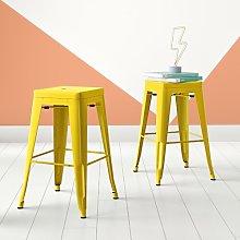 Anay 61cm Bar Stool Hashtag Home Colour: Yellow