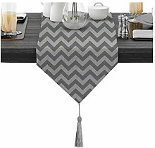 ANAZOZ 71 inches Table Runner, Wave Pattern Modern