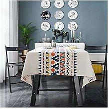 ANAZOZ Tablecloth Modern,100x140CM White Blue