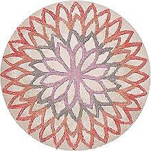 ANBAI Round Rug Vintage Washable Rug for Living