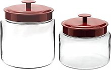 Anchor Hocking Biscut Cookie jar, Large Plus