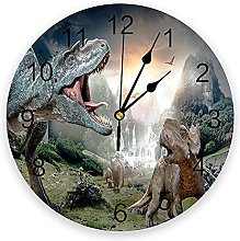 Ancient Dinosaur Woods Modern Wall Clock For Home