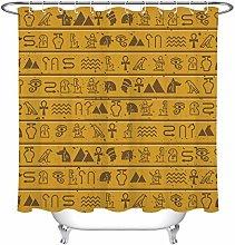 Ancient Egyptian Hieroglyphics Waterproof Fabric