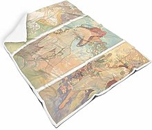 Ancient Greek Mythology Square Throw Blanket Warm