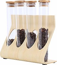 Andifany Wooden Coffee Beans Tea Display Rack
