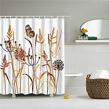 ANDMAEVA Animals Butterfly Printed Shower Curtain
