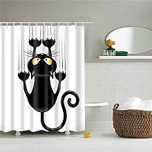 ANDMAEVA Cartoon Cat Printing Fabric Shower